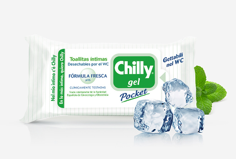 ¡Prueba las toallitas Chilly Pocket Gel!